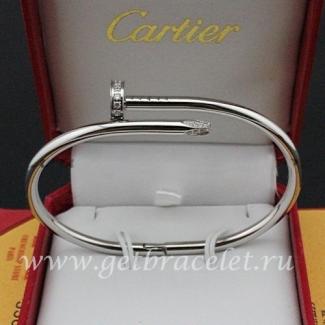 Copy Cartier Juste Un Clou Bracelet White Gold Diamonds B6037915