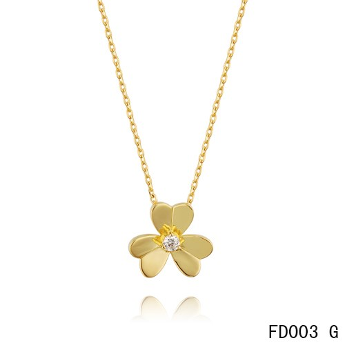 Van-Cleef-Arpels-Frivole-Yellow-Gold-Necklace