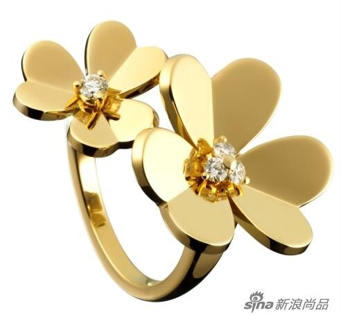 Van-Cleef-Arpels-Frivole-Yellow-Gold-Rings
