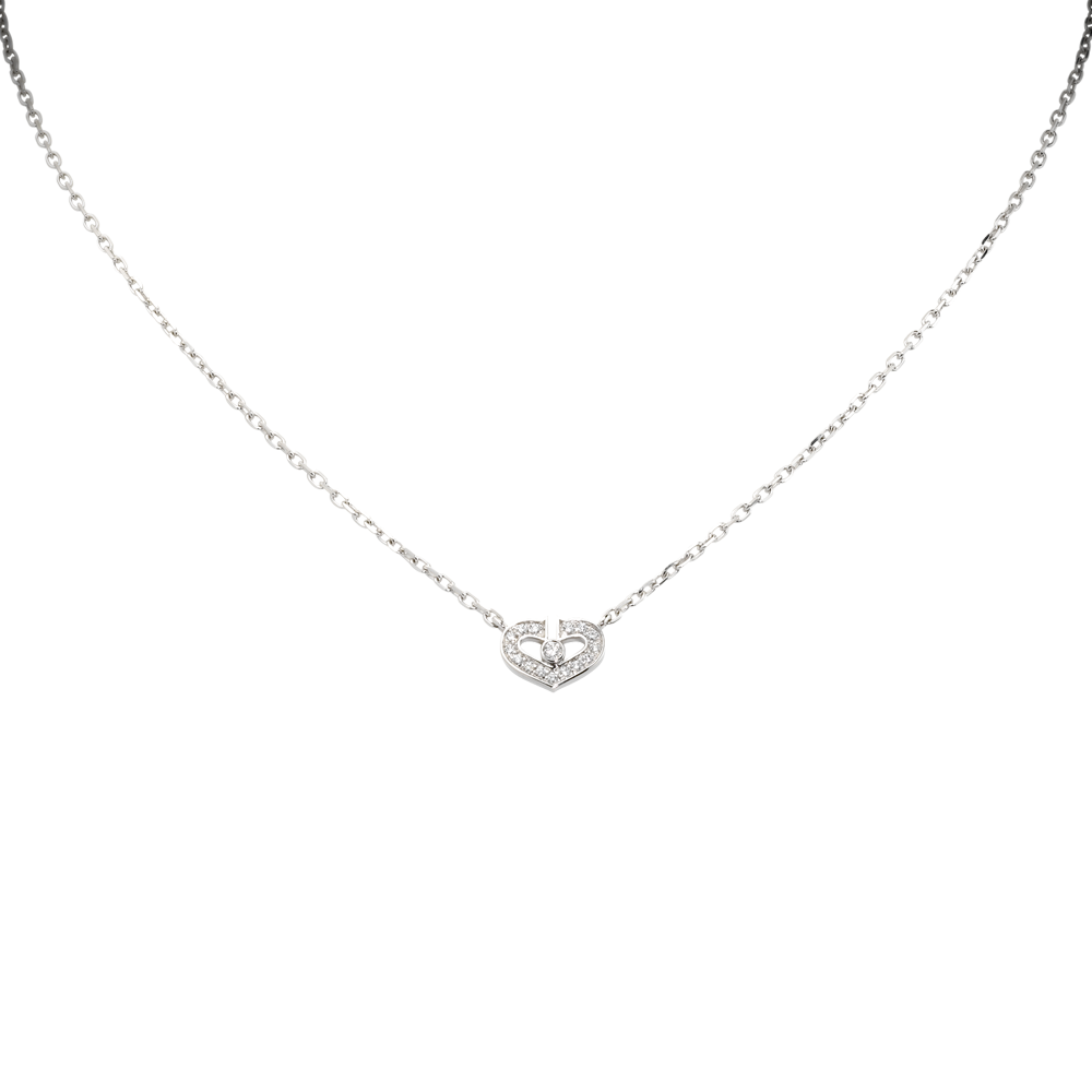 Heart Of Cartier Pendant, Small Model White Gold, Diamonds B3040300