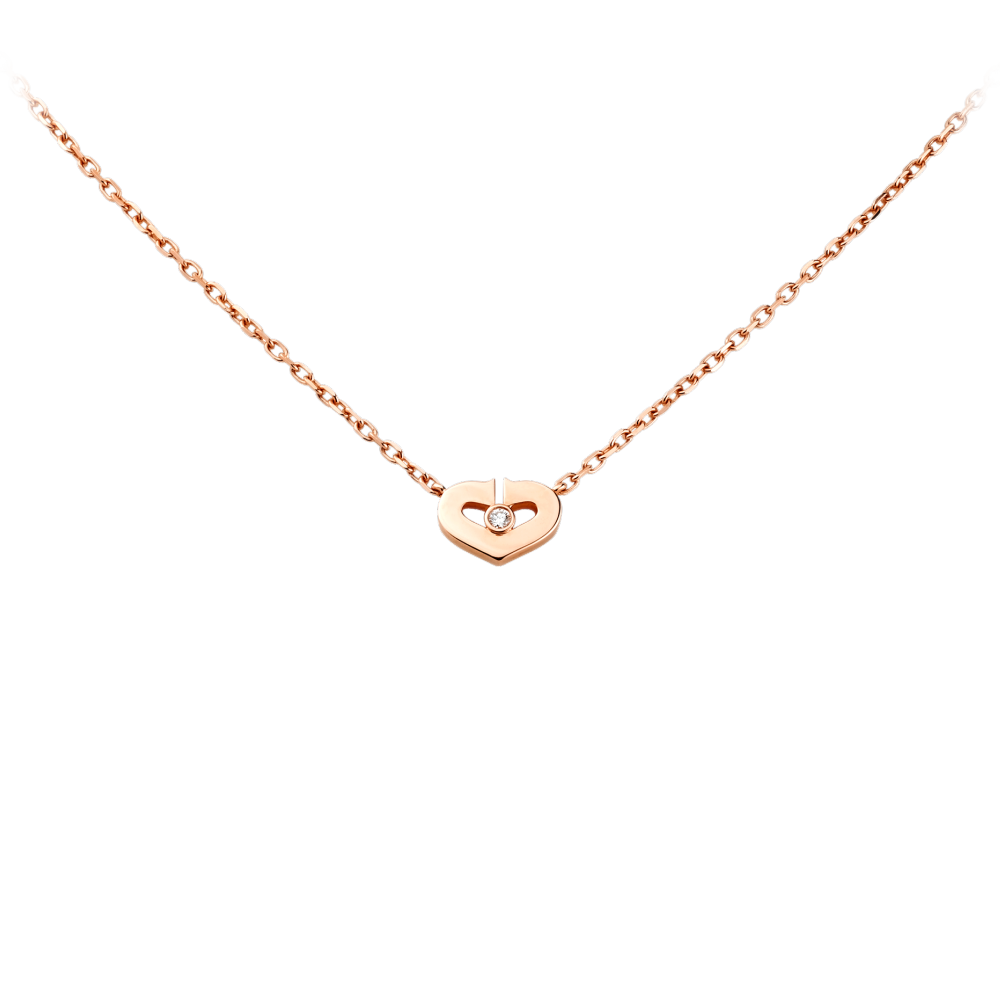 Heart Of Cartier Pendant, Small Model Pink Gold, Diamond B3040400