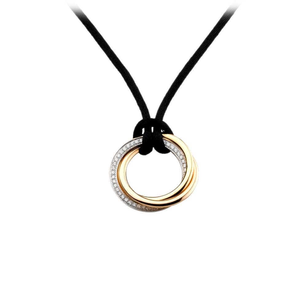 Trinity Pendant, Medium Model 3-Gold, Diamonds B3040900