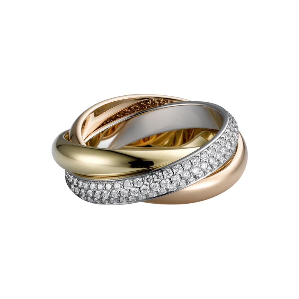Trinity De Cartier Ring White Gold, Yellow Gold,Pink Gold,Diamonds B4038900
