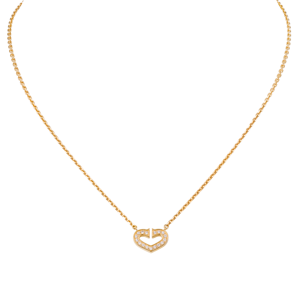 Heart Of Cartier Pendant Chain Yellow Gold, Diamonds B7008200