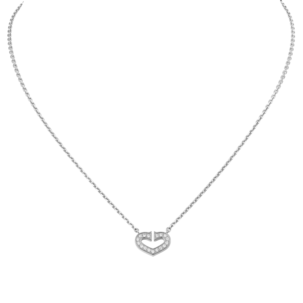 Heart Of Cartier Pendant Chain White Gold, Diamonds B7008300