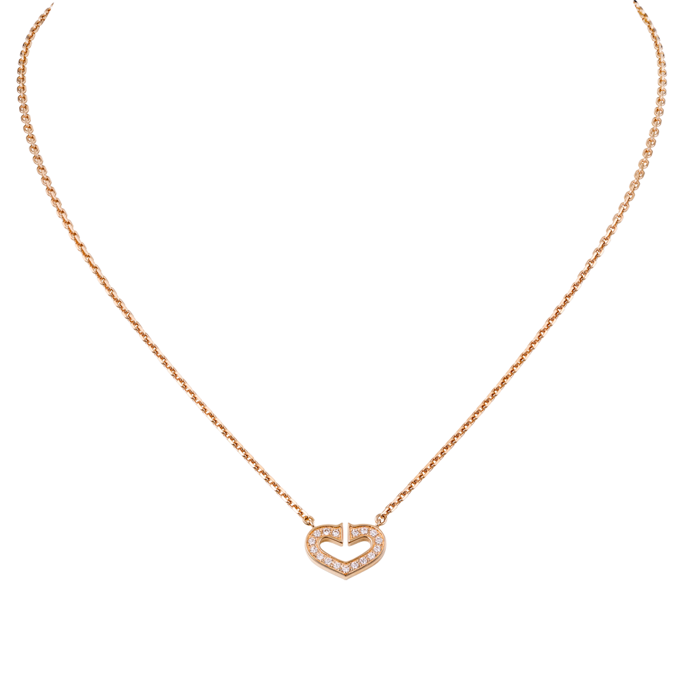 Heart Of Cartier Pendant Chain Pink Gold, Diamonds B7008400