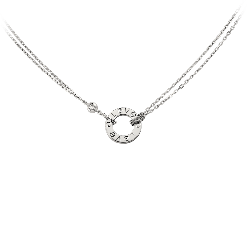 Cartier Love Necklace White Gold, Diamonds B7219400