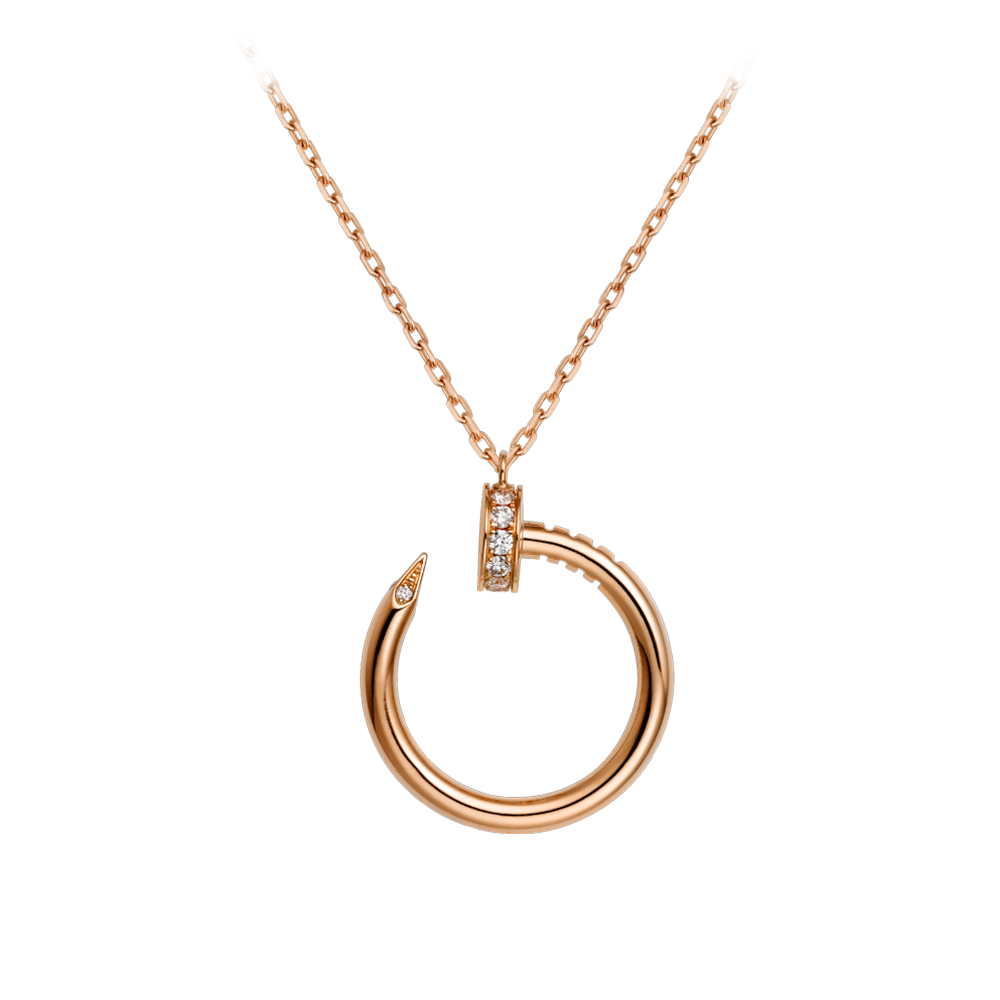 Cartier Juste Un Clou Necklace Pink Gold, Diamonds B7224513