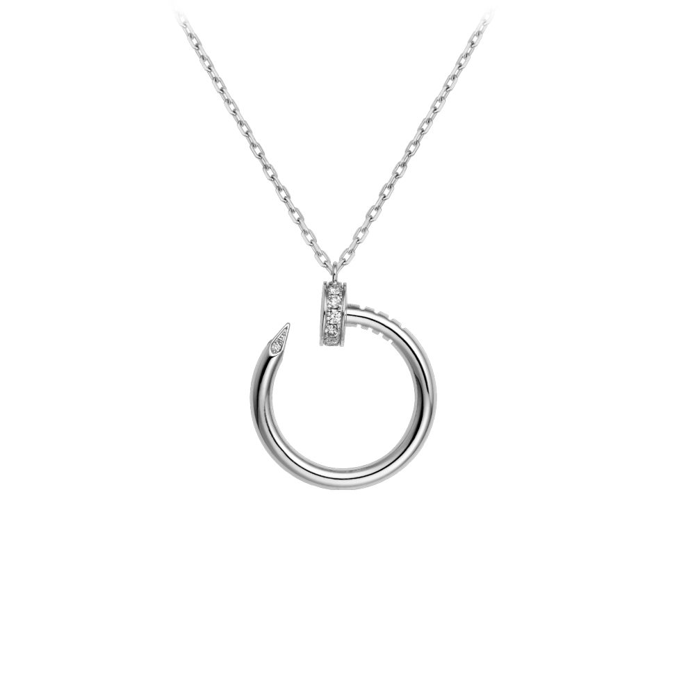 Cartier Juste Un Clou Necklace White Gold, Diamonds B7224514