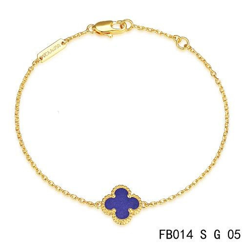 fake van cleef arpels sweet alhambra bracelet in yellow. Black Bedroom Furniture Sets. Home Design Ideas