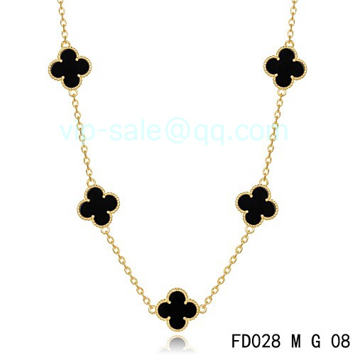 Replica Van Cleef & Arpels Vintage Alhambra Necklace In ...