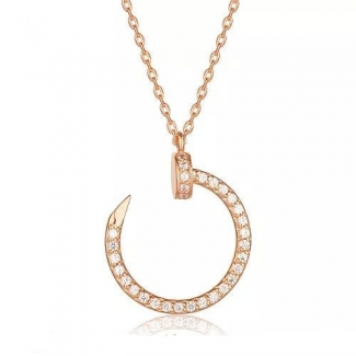 Cartier Juste Un Clou Pendant Pink Gold, Diamonds B3047000