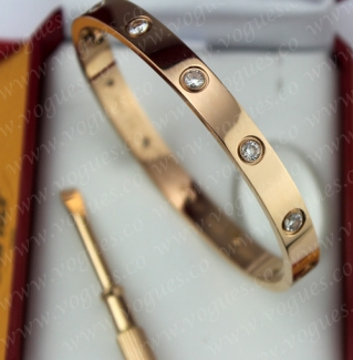 New Arrival Cartier Love Bracelet Pink Gold 10 Diamonds B6038217