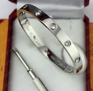New Arrival Cartier Love Bracelet White Gold 10 Diamonds B6036117