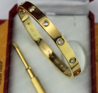 New Arrival Cartier Love Bracelet Yellow Gold 10 Diamonds B6036217