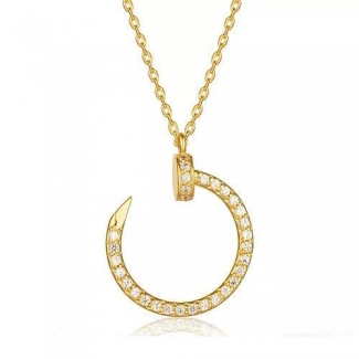Cartier Juste Un Clou Necklace Yellow Gold, Diamonds B7224511
