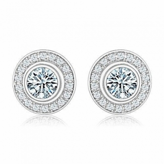 Cartier D'AMOUR Earrings in 18K White Gold with Diamond