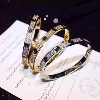 Cartier Love Bracelet Black Ceramic Screws 3 Color B6032417