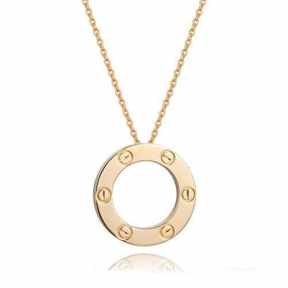 Cartier Love Pendant Necklace In Yellow Gold