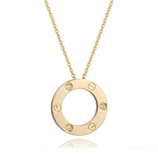 Cartier Love Pendant Necklace In Yellow Gold With 3 Diamonds