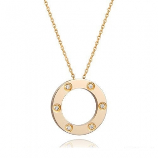 Cartier Love Pendant Necklace In Yellow Gold With 6 Diamonds