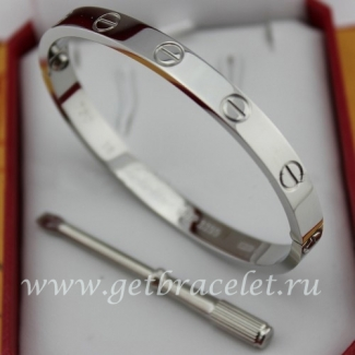 Cheap Cartier Love Bracelet White Gold B6035416 (New Version - Prevent Screws Fall Out)