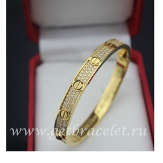 Cheap Cartier Love Bracelet Yellow Gold Diamonds N6035016
