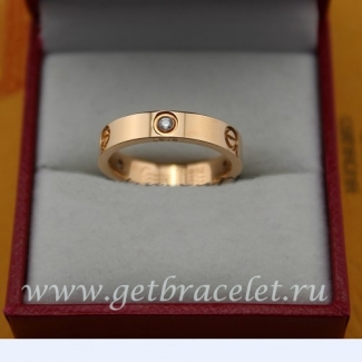 Cheap Cartier Love Pink Gold Ring With 3 Diamonds