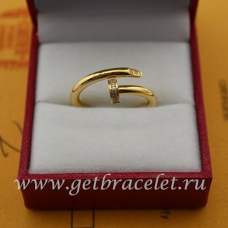 Fake Cartier Juste Un Clou Ring Yellow Gold Diamonds