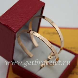 Fake Cartier Love Earrings Pink Gold