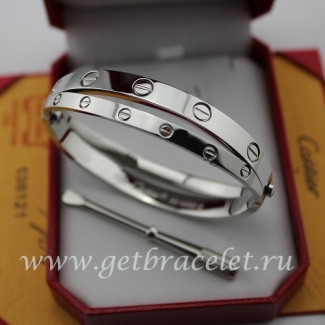 Fake Cartier Love White Gold Bracelet (Combo Style)