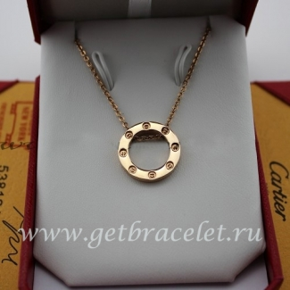 Fake Cartier Pink Gold LOVE Necklace