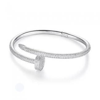 Cartier Juste Un Clou Bracelet White Gold, Diamonds