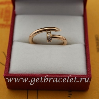 Imitation Cartier Juste Un Clou Ring Pink Gold Diamonds B4094800