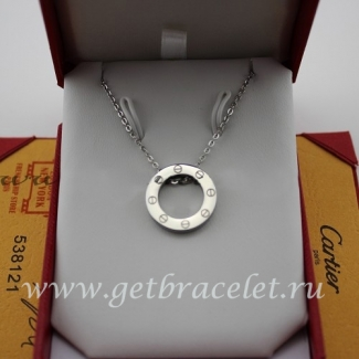 Replica Cartier LOVE Necklace White Gold B7014300