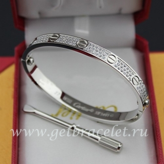 Replica Cartier Love Bracelet White Gold Diamonds N6033601