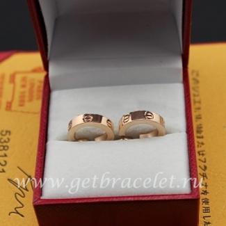 Replica Cartier Love Earrings Pink Gold B8029000