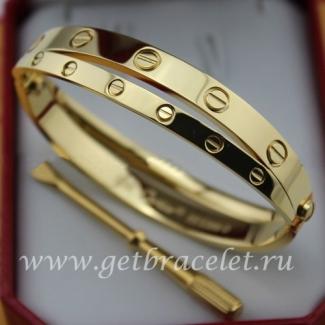 Replica Cartier Love Yellow Gold Bracelet (Combo Style)