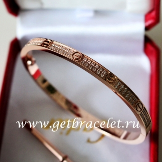 2017 New Cartier Love Bracelet SM Pink Gold With Diamonds N6710717