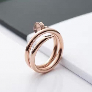 Cartier Juste Un Clou Pink Gold Diamond Double Nail Ring