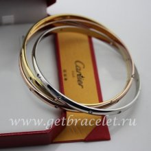 Imitation Cartier Trinity Bracelet 3-gold Diamonds N6034001
