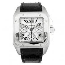 Cartier Santos 100 Chronograph XL swiss automatic mens watch replica W20090X8