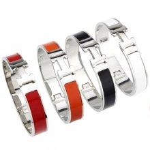 Hermes Clic H Enamel Bracelet Narrow With Gold/Silver/Pink Gold