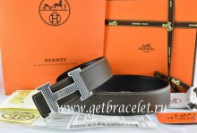 Hermes Reversible Belt Brown/Black Togo Calfskin With 18k Gold Wave Stripe H Buckle