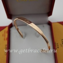 Copy Cartier Pink Gold Open Bracelet