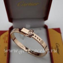 Fake Cartier Love Pink Gold Bracelet Folding