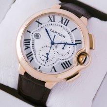 Ballon Bleu de Cartier extra large chronograph watch W6920009 automatic 18K pink gold
