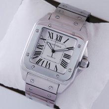 Cartier Santos Galbee extra large XL mens watch replica W200737G stainless steel