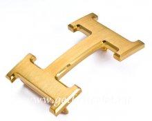 Hermes Reversible Belt 18K Gold Brushed Buckle