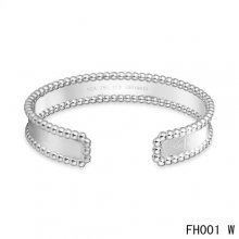 Cheap Van Cleef And Arpels Open Bracelet In White Gold